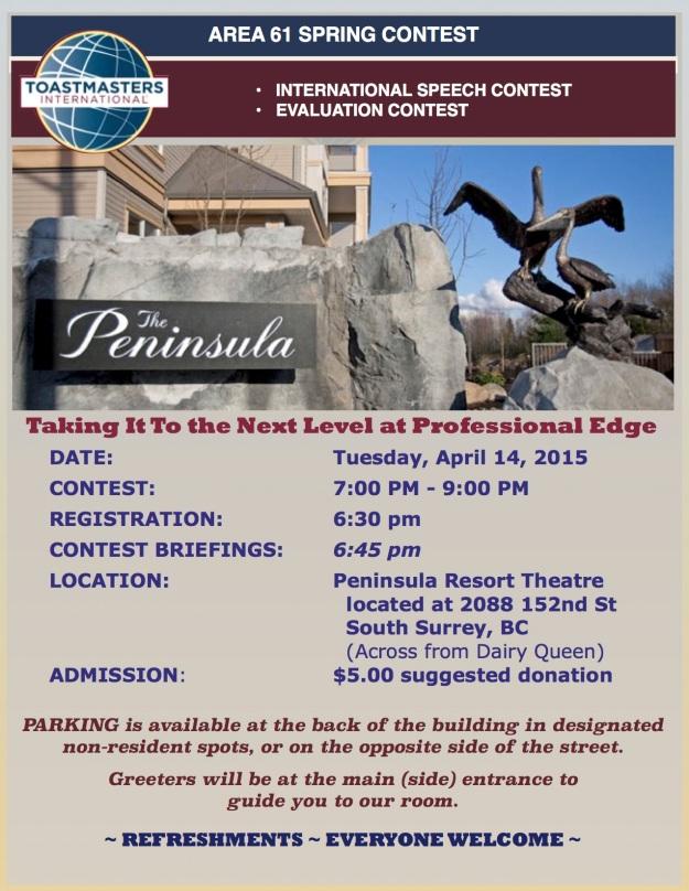 Area 61 Spring 2015 Contest