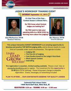 Division F Judges Training September 12, 2015