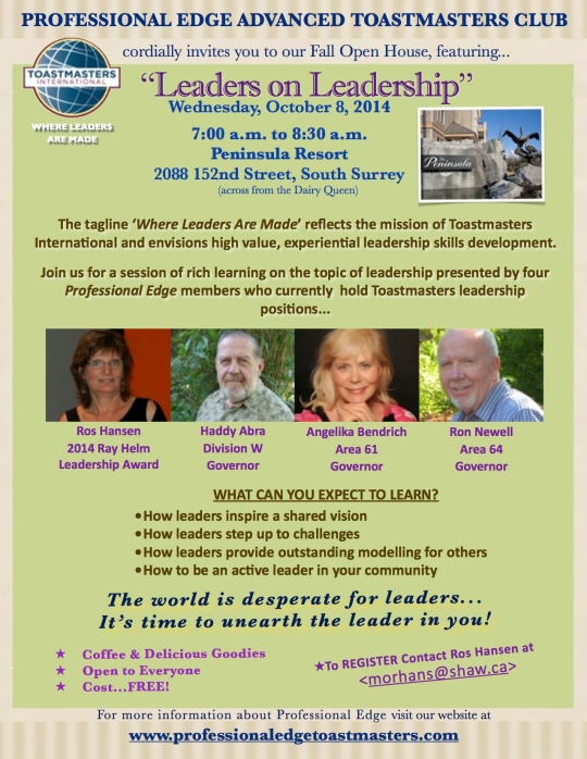 ProEdge Open House FAll Oct 2014
